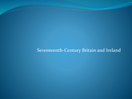 Seventeenth Century Britain and Ireland