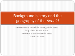Background history and the geography of the Aeneid