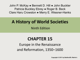 Chapter 15 Europe in the Renaissance and