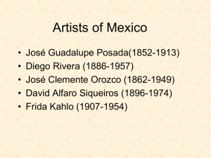 Powerpoint of Artists from Mexico