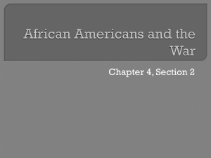 African Americans and the War