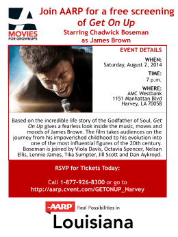 AARP Movies for Grownups- Get On Up Movie