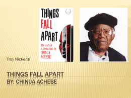 Things Fall Apart - ePortfolio