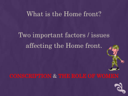 Conscription & The Role of Women