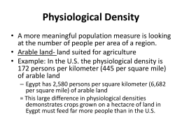 Physiological Density - Point Loma High School