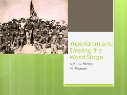 Imperialism and Entering the World Stage