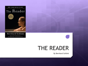 THE READER - YEAR12LANGLIT