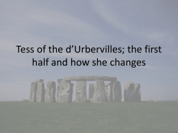 Tess of the d`Urbervilles ppt