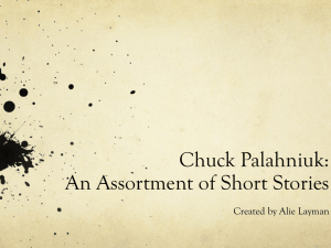 Chuck Palahniuk: An Assortment
