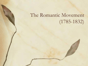The Romantic Movement (1785