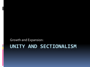 Unity and Sectionalism (1)