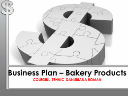 Business Plan * Bakery Products