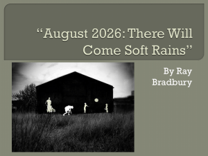 August 2026: There Will Come Soft Rains