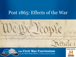 Effects of the War (PPT)