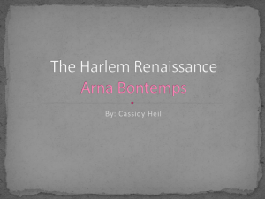 The Harlem Renaissance Arna Bontemps