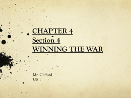 Ch. 4 Sec. 4 Winning the War