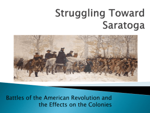 Struggling Toward Saratoga