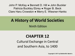Chapter 12 Cultural Exchange in Central and Southern Asia