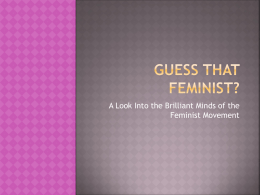 Feminist Power Point - ENG3014