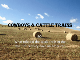 Cowboys and Cattle ppt - Effingham County Schools