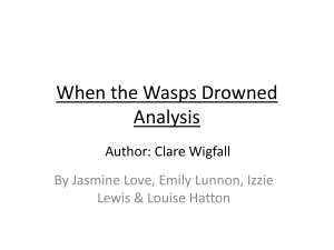 When the Wasps Drowned Analysis - WordPress