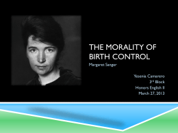 The morality of Birth control