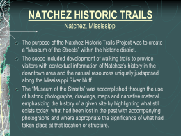 Natchez Historic Trails - Mississippi Chapter ASLA
