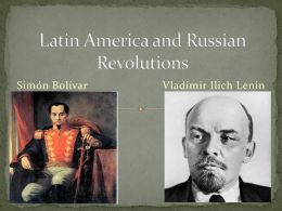 Latin America and Russian Revolutions