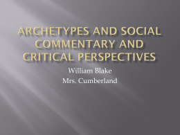 Archetypes and Social Commentary