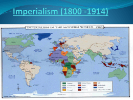 Chapter 21: The Height of Imperialism (1800