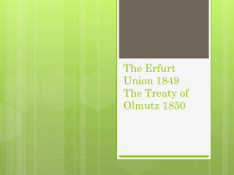 The Erfurt Union 1849