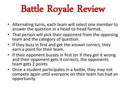 Battle Royale Review