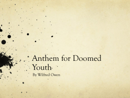 Anthem for Doomed Youth