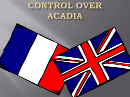 Control Over Acadia 1713