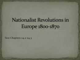 Nationalist Revolutions Powerpoint