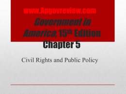 Government in America, Chapter 5