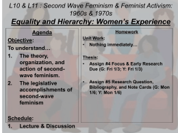 Second Wave Feminism - Dr. Cacace`s Social Studies Page