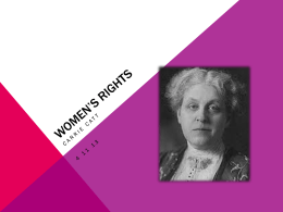 Women`s Rights, Carrie Catt