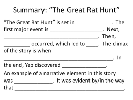 Summary: *The Great Rat Hunt*