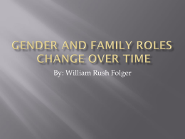 Gender and Family Roles PPT