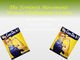 The Feminist Movement
