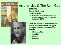 Rain God – Part 1 - Fictions of Latino Masculinities
