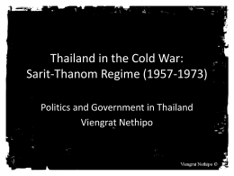 Power Point on Cold War and Thailand