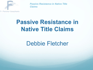Passive Resistance in Native Title Claims