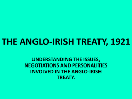 THE ANGLO-IRISH TREATY, 1921