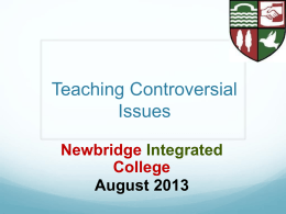 Teaching Controversial Issues (Powerpoint)