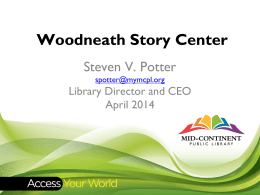 Woodneath Story Center Concept MCPL