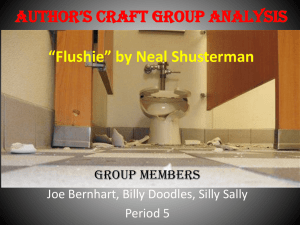 Author*s Craft Group Analysis *Flushie* by Neal Shusterman