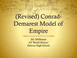 (Revised) Conrad-Demarest Model of Empire