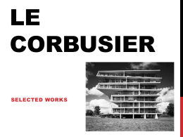 Selected works Le Corbusier